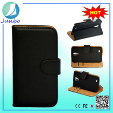 New Design Fancy Cell Phone Back Cover Leather Case with Card Slots for Samsung Galaxy S4