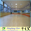 Portable wood flooring used dance room, PVC flooring roll in stock