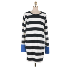 Elegant OEM design winter nursing sweater dress with hide breastfeeding opening