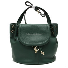 CSS1360-001 China wholesale new design fashion women dark green pebble grain leather handbags mini bag for little girl
