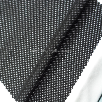 polyester plush mesh fabric for garment lining tear resistant keep warm fabriic