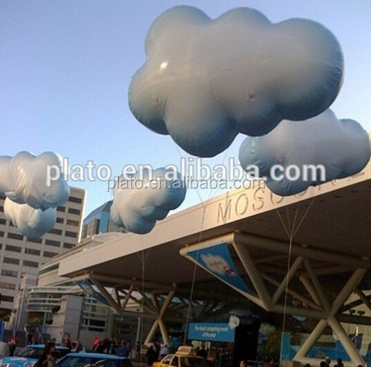 New high quatlity Inflatable advertising clouds shape balloon with customized logo