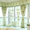Classic design embroidered leaves drapes curtains for bedroom
