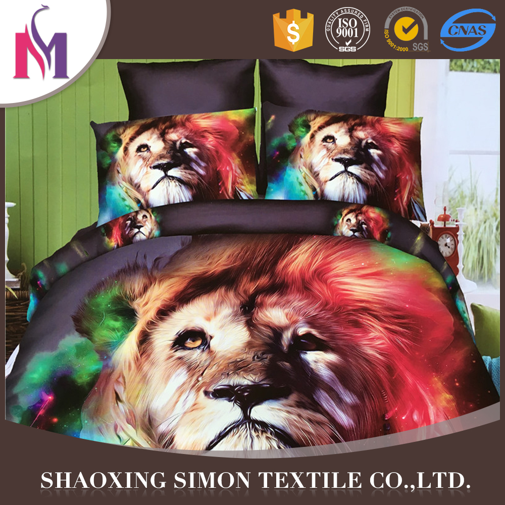 Hangzhou 3D Bedsheet White Bed Sheet Sets Bear Print Bedding Set