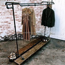 Modern Store Retail Display Designs Wooden Clothing Display Shelf