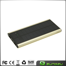Factory custom ultrathin solar mobile charger 6000mah 2W,portable cheap solar mobile phone charger