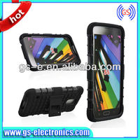 Hybrid PC TPU Stand case for Samsung Galaxy S5 i9600 combo cellphone case