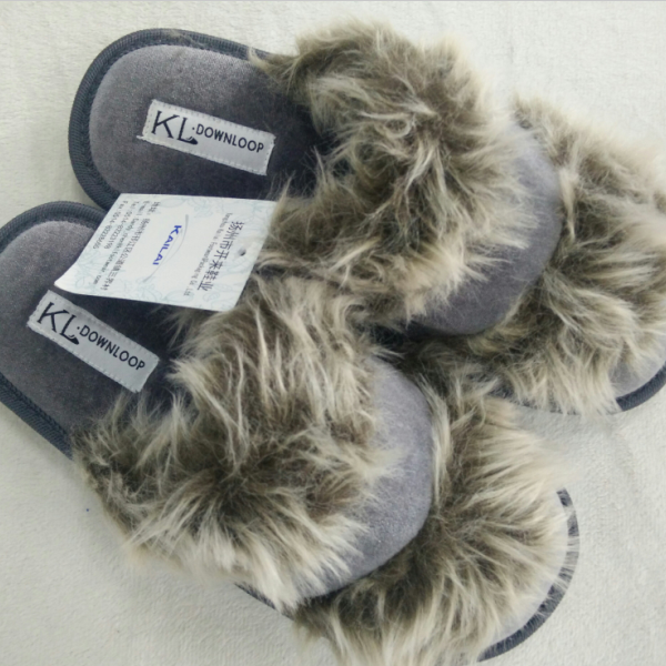 dense velvet and plush indoor brand slippers