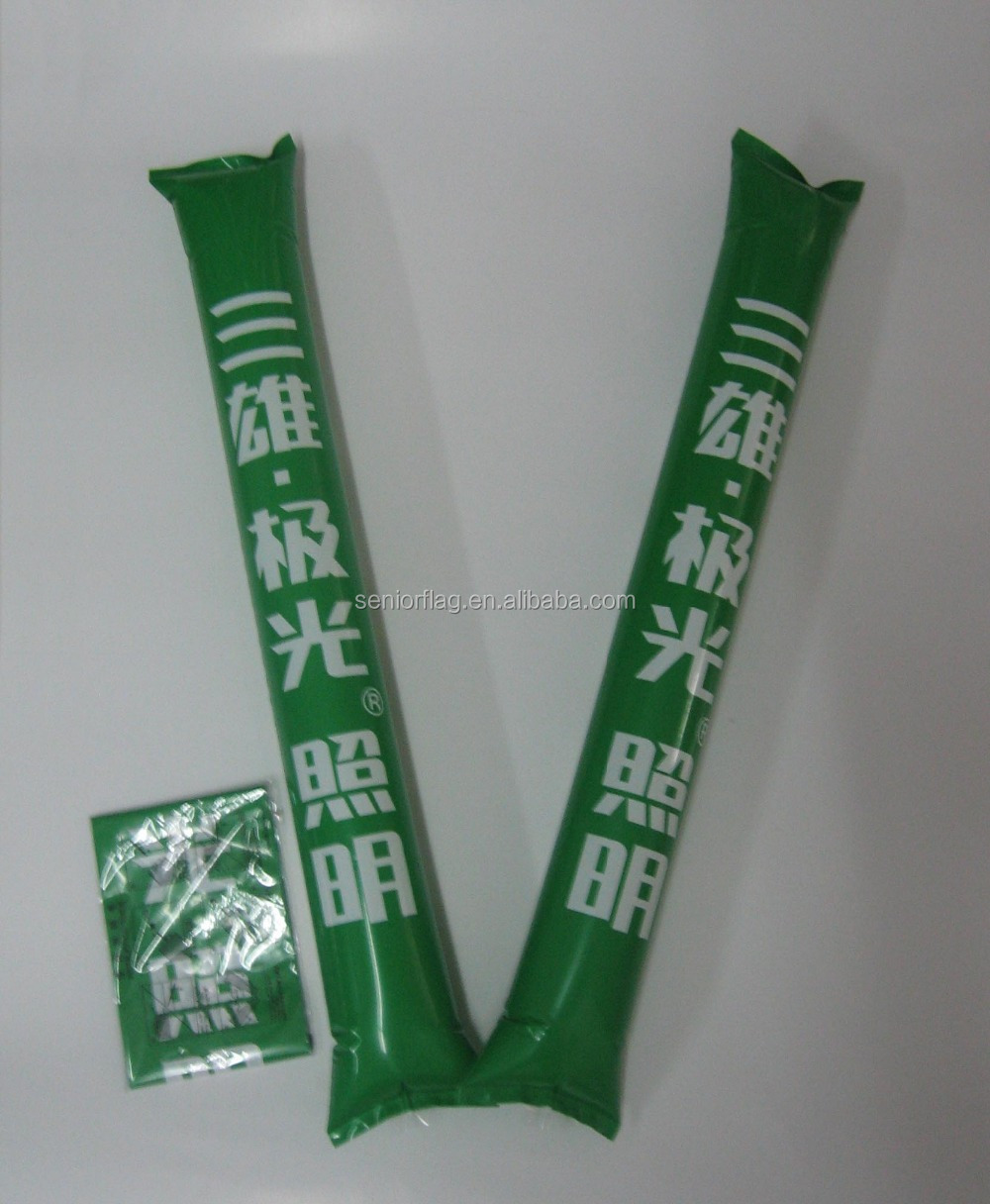 Promotional PE Custom Brand Inflatable Boom Cheering Stick