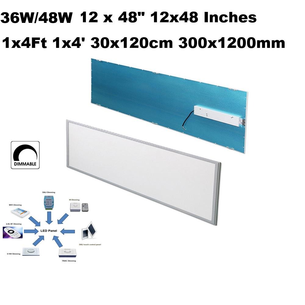 36W 48W 12x48' 12 x48 Inch 1x4' 1x4ft 295x1195mm led flush mount ceiling light