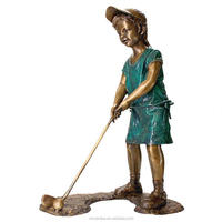 high quality bronze man playing golf statue for sale