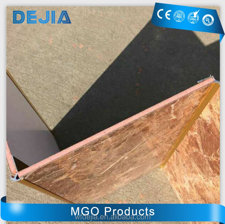 high pressure laminated fireproof decorative mgo wall board