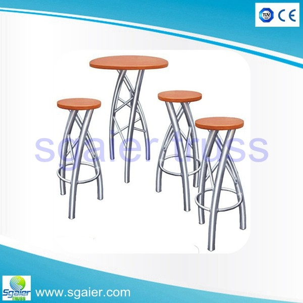 Bar truss outdoor folding table bar stool bar chairs for Cocktail tables and chairs for sale