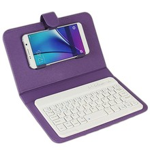 2017 PU Leather Flip Holder Wireless Bluetooth Keyboard Phone Case for iPhone 7