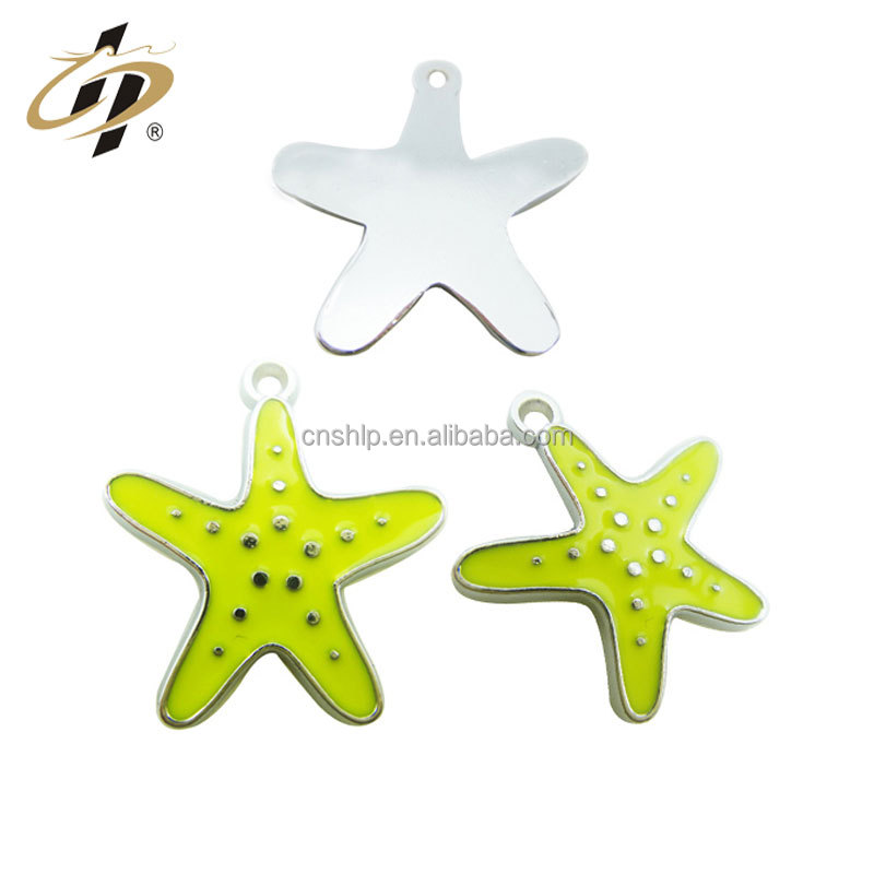 Professional Cheap Customized Promotional yellow starfish metal <strong>charms</strong> and pendant