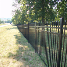 Hot sale prefab black aluminum fence panels