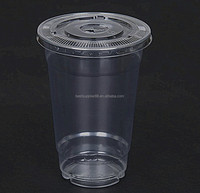 High quality disposable 12oz clear PET cold drink plastic cups, PET cold beverage cups