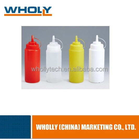 Factory price oval plastic squeeze empty bottle 500ml