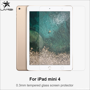 Lanbi high quality 0.3mm Anti-scratch explosion-proof Tempered glass screen protector For ipad mini 4,mini 3 , pro