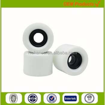 white color PU Slide Wheels for electric skateboard