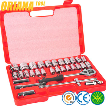 "High quality 32pcs 1/2"" socket tool wrench set with mirror polish"