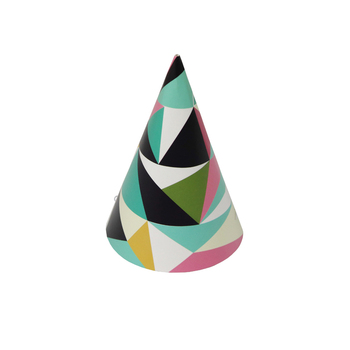 Cone Geometric designs Party Paper Hats Cone Birthday Party Hats Cone Hat