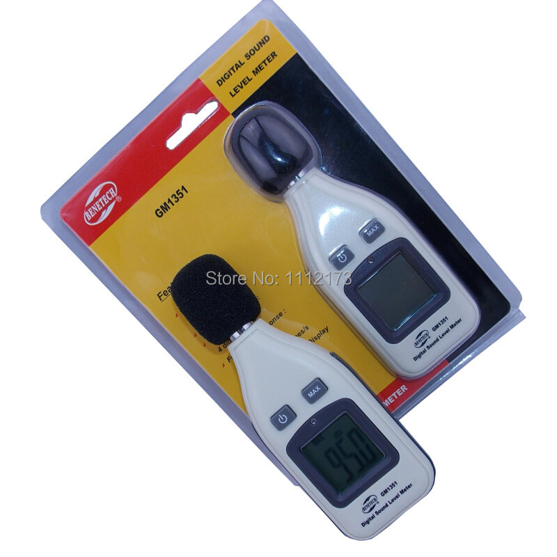Sending Retail Package Free Shipping GM1351 30-130dB Digital sound level meter noise tester in decibels LCD screen Brand New