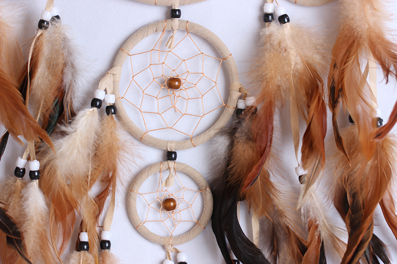 Wall hanging brown Dream Catcher MS8043
