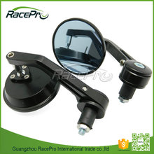 Small Round Handlebar End Black Motorcycle Mirrors for Yamaha Honda Kawasaki Aprilia