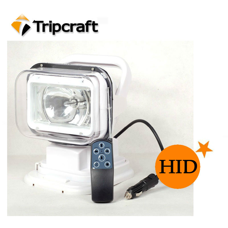 Top Sell ! Car Roof Remote Control Light Black White Rotating Vehicle Search Light 35w/55w/70W HID Search Light