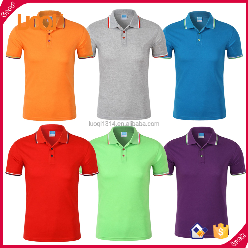 Wholesale High Quality Custom Mens Classic Polo Six Colors Short Sleeve Golf Polo Cheap Polo Shirts
