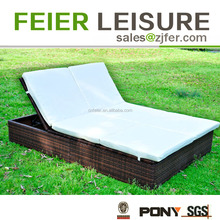 A6034-9C double modern chaise lounge outdoor