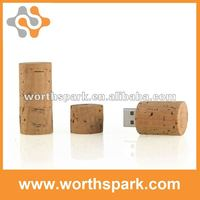 OEM Cork Stopper USB flash drive with CE/ROSH/FCC