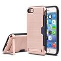 Self Stand case for iphone 7 plus, phone case for iphone 7 with card slot