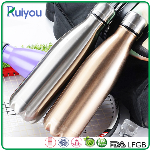 Stainless steel insulated sport vacuum flask thermos water bottle