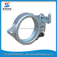 DN125 5 inch Concrete Pump Forging Clamp Coupling for Concrete Pipe Joint