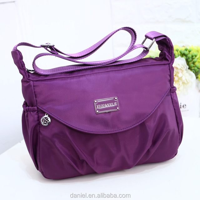 Korea new design water resistent Oxford Nylon lady shoulder bag zippered Mummy bag polyester handbag for girls SGS factory