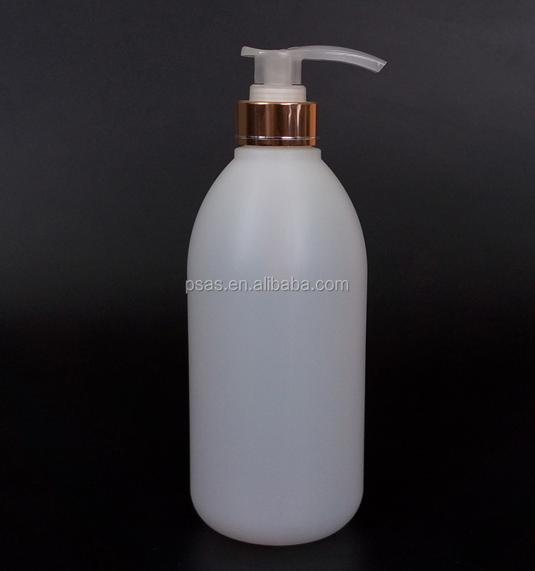 700ml round shape HDPE plastic shampoo bottle with lotion pump