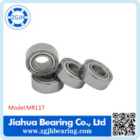 ball bearing MR117ZZ RS open Miniature deep groove ball bearing