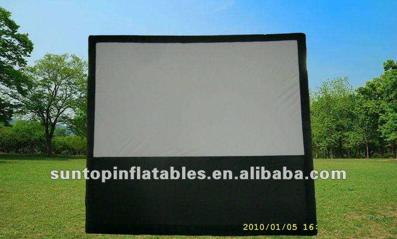 most popular and durable advertising inflatable air movie screen for sales with high quality