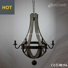 Hot sale pendant light 6 lights dark color unique pendant light