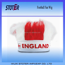 England fans wig with head band Football fans wig for 2016 promotion events