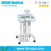 R15 Dental Portable Self Delivery Unit Cart Dental Trolleys with Woodpecker N2 Scaler,portable dental unit hot sale