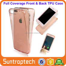 Front & Back Full Body Slim Fit 360 Degree Crystal Clear TPU Gel Cover Phone Case for iPhone 7 6 6S Plus 5 5S 5C 4 4S IP7PC15