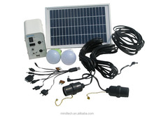 Africa Hot sale DC Solar Panel Kits 5w soalr panel 12v 4ah battery and 2pcs 12v 3w led lamp