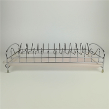 KITCHEN CHROME PLATED METAL WIRE DISH CUP DRYING RACK HOLDER ORGANIZER DRAINER DRYER TRAY CUTLERY PLASTIC TRAY DISH RACK