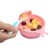 Waterproof interesting shapes baby eating bowl, easily clean baby silicone suction bowl, foldable baby grinding bowl
