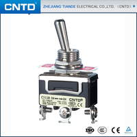 CNTD TOP Quality 250V Spring Return 3-Way ON-OFF-ON Toggle Switch with Screw Terminal (C5R13B)