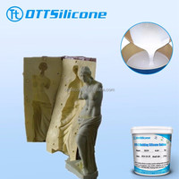 gift craft molding rtv2 silicone rubber, tin cure silicone, condensation silicone 3% free catalyst