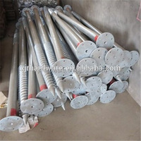 Galvanized screw ground helical piles